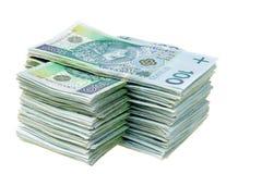 Stack of polish money Stock Image