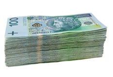 Stack of polish money Stock Images