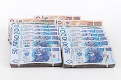 Stack of polish money Stock Photo
