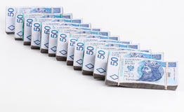 Stack of polish money Royalty Free Stock Photos