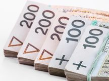 Stack of polish money Stock Photos