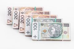 Stack of polish money Royalty Free Stock Images