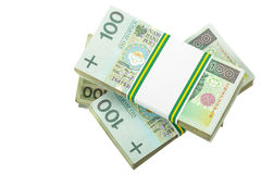Stack of polish zloty Royalty Free Stock Image