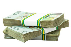 Stack of polish zloty Royalty Free Stock Photography