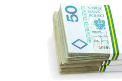 Stack of polish zloty Royalty Free Stock Photos