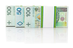 Stack of polish zloty Stock Photography