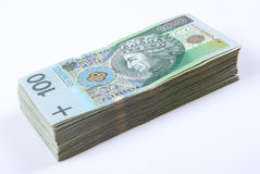 Stack of polish Zloty bills Royalty Free Stock Photos