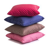 Stack of polka dot cushions Royalty Free Stock Images