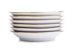 Stack of porcelain plates Stock Image