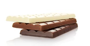 Stack of the porous white, black and milk Royalty Free Stock Image