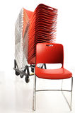 Stack of portable chairs Stock Photo