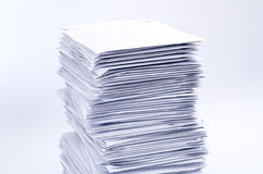 Stack of post letters Stock Photo
