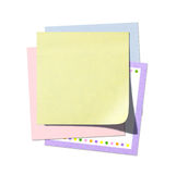 Stack of Post-it Notes With Copy Space Stock Photos