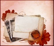 Stack of postcards template Royalty Free Stock Photos