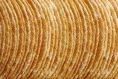 Stack of potato chips Royalty Free Stock Images