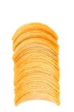 Stack of potato chips. Stock Photos