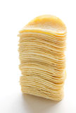 Stack of potato chips Stock Images