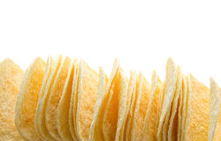 Stack of potato chips Stock Photography
