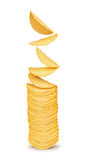 A stack of potato chips on Stock Images