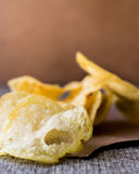 Stack of potato chips. Stock Images