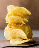 Stack of potato chips. Stock Photography