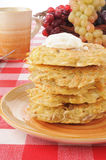 Stack of potato pancakes Stock Photo