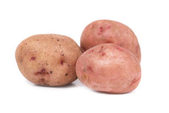 Stack of potatoes Stock Images