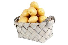 Stack of potatoes Stock Image