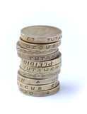 Stack of Pound Coins Royalty Free Stock Photography
