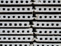 Stack of precast concrete Royalty Free Stock Photos