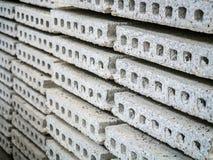Stack of precast concrete Stock Photo