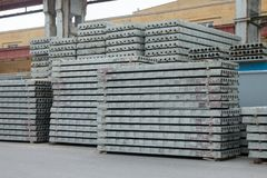 Precast reinforced concrete slabs royalty free stock photography