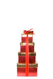 Stack of presents. royalty free stock image