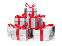 Stack of presents Stock Photo