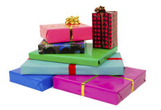 Stack of presents Royalty Free Stock Photography