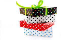 Stack with presents Stock Photo