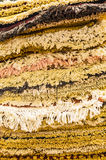 Stack of prestigious, handmade carpets on sell in a marker Royalty Free Stock Photography