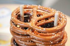 Stack of pretzels Stock Images