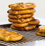 Stack of pretzels Royalty Free Stock Image
