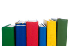 Stack of primary colored textbooks Royalty Free Stock Photography