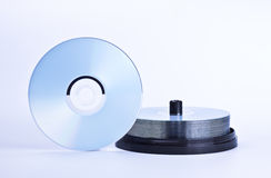 Stack of printable discs Stock Images