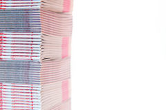Stack of printed materials - shallow DOF Royalty Free Stock Images