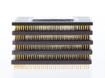 Stack of processors  Stock Image
