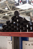Stack of Pucks Royalty Free Stock Image