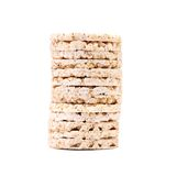 Stack of puffed rice snack. Stock Image
