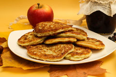 A Stack of Pumpkin Pancakes Stock Image