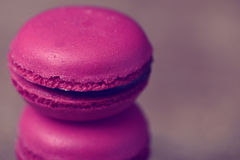 Stack of purple macarons Stock Photos