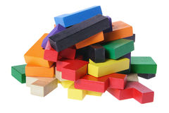 Stack of Puzzle Pieces Royalty Free Stock Photos