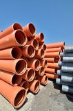 PVC pipes stored  Stock Photos