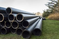 Stack of PVC water pipes Stock Photos